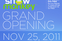 Grand Opening @ Snow Monkey – 7 am/price of snow ice
