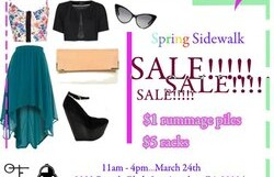 Spring Sidewalk Sale @ Observe the Found – 11 am/FREE