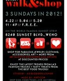 Sunset Walk and Shop – 12 pm/FREE