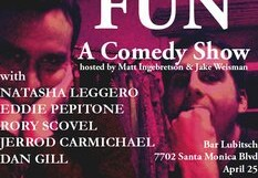 FUN: A Comedy Show @ Bar Lubitsch – 8 pm/FREE